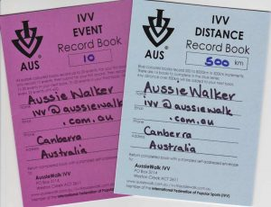 IVV Event and Distance Record Books